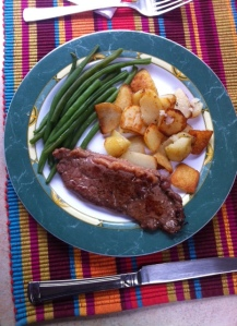 Steak on the menu