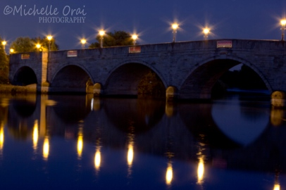 chertsey bridge night