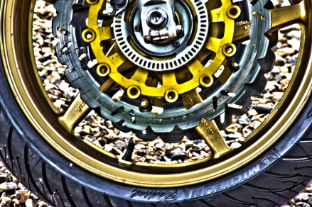 HDR motorbike wheel